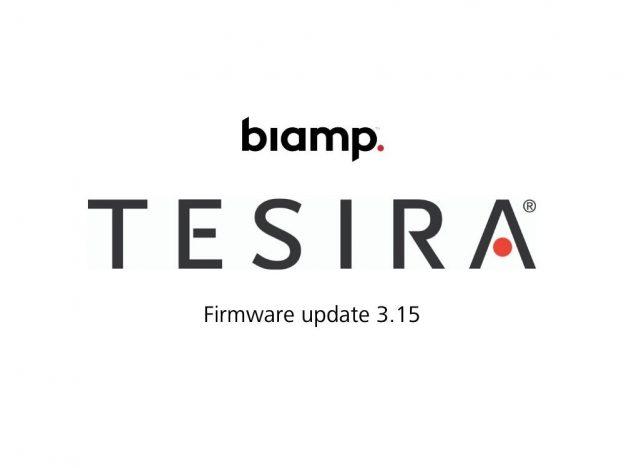 Biamp Tesira Firmware update 3 15