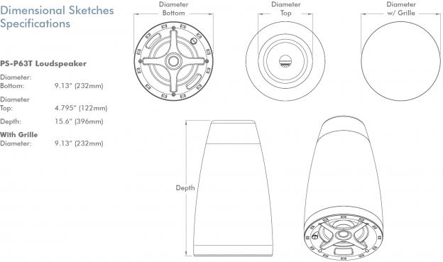 Sonance PS-P63T 6,5 inch Pendel Speaker Zwart (Leverbaar Juli2021)
